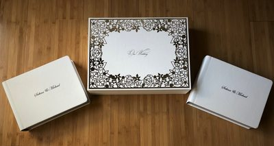 Crystal Glance Signature Wedding Book with parent books