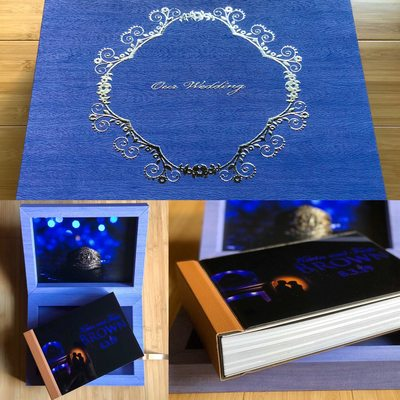 Mapple Wedding Signature Book with leather cover