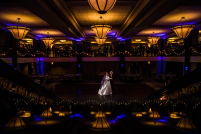 Bride and Groom's First dance at Collingswood Ballroom