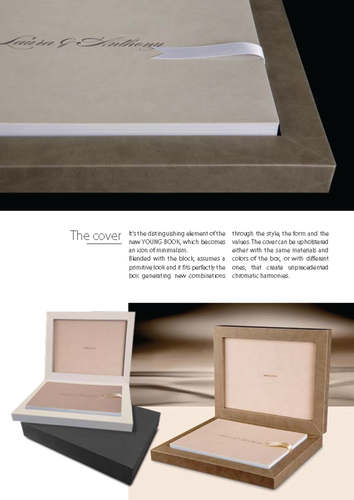 leather wedding album made in Italy