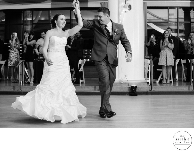 First Dance Spin at Reception Captured Forever