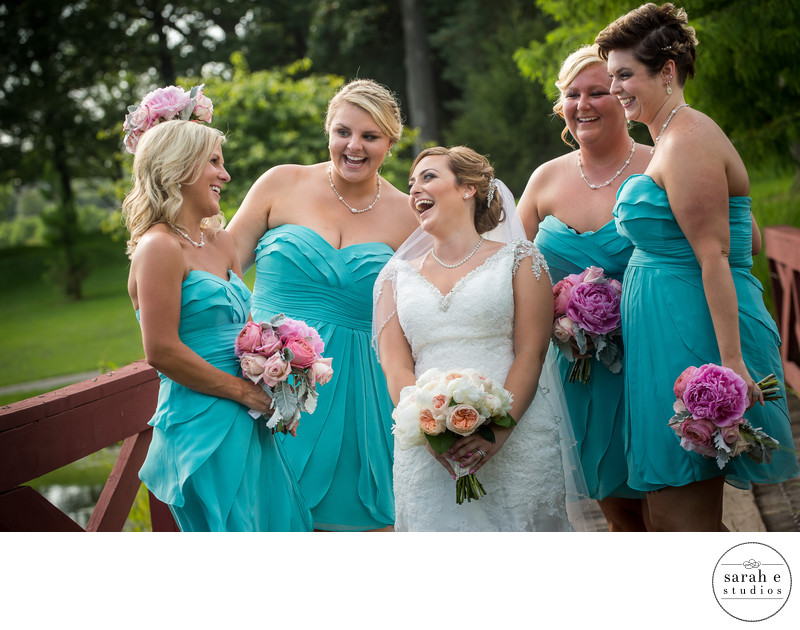 Bridesmaids at Westborough Country Club