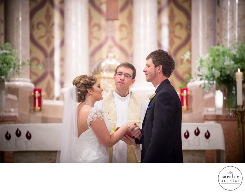 Catholic Wedding Photographer at St. Ambrose Church in St. Louis