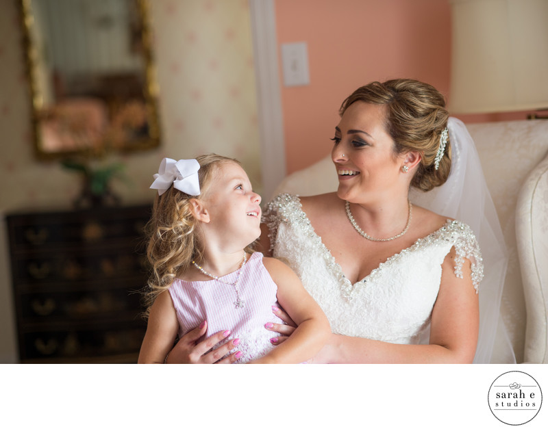 St. Louis Photographer of Bride and Flower Girl