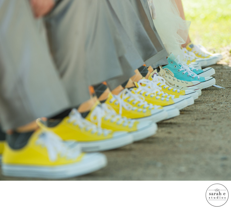 Creative Use of Chuck Taylors in a St. Louis Wedding