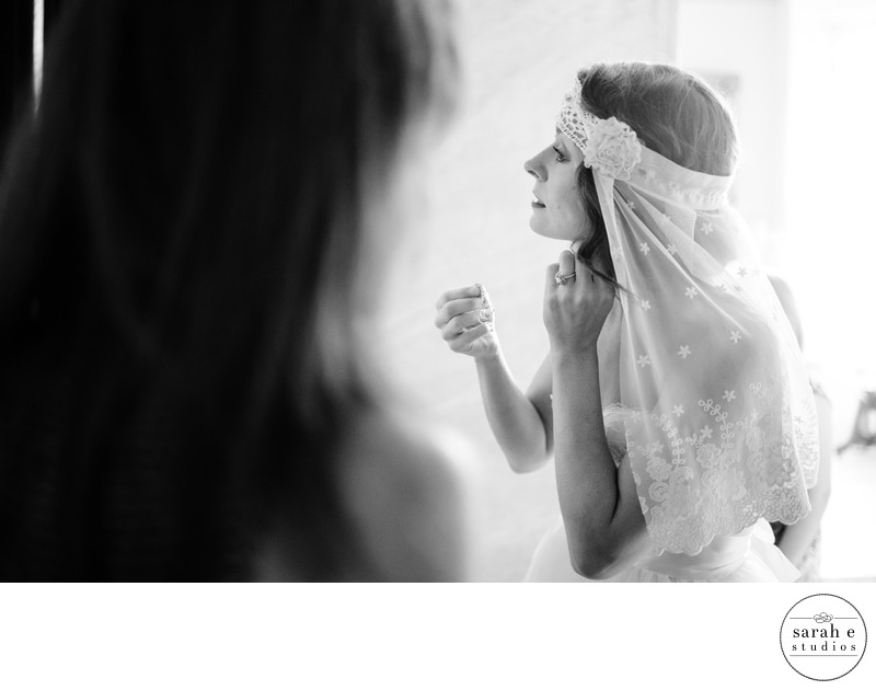 Bride Getting Ready at Lemp Mansion