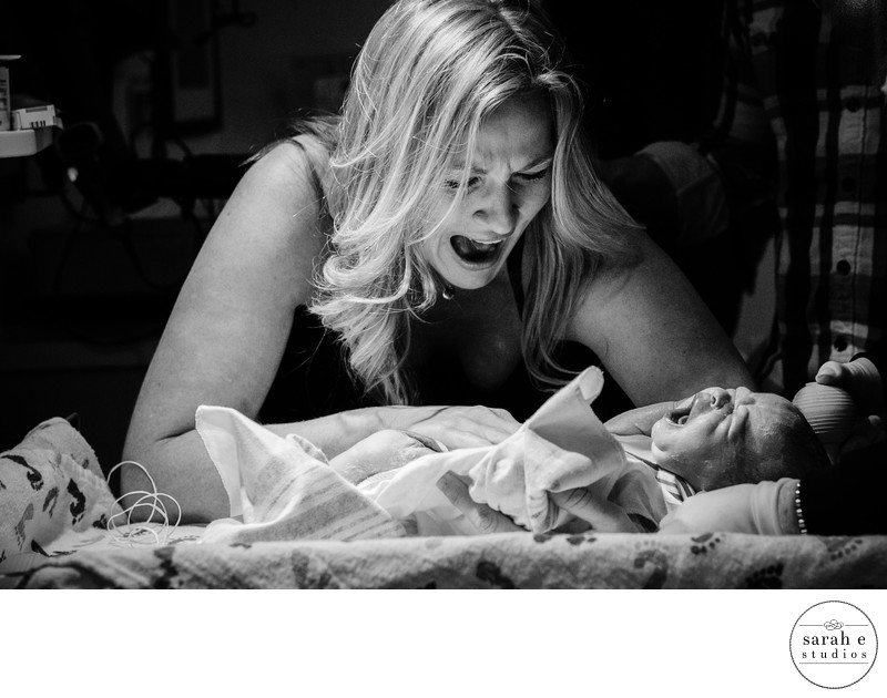 Mother Daughter Mirror Image at Mercy Hosptial Moments After Birth