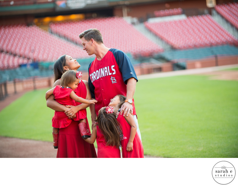 Busch Stadium Family Photographs