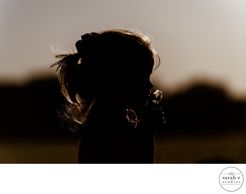 Iconic Fine Art Silhouette of Toddler Girl