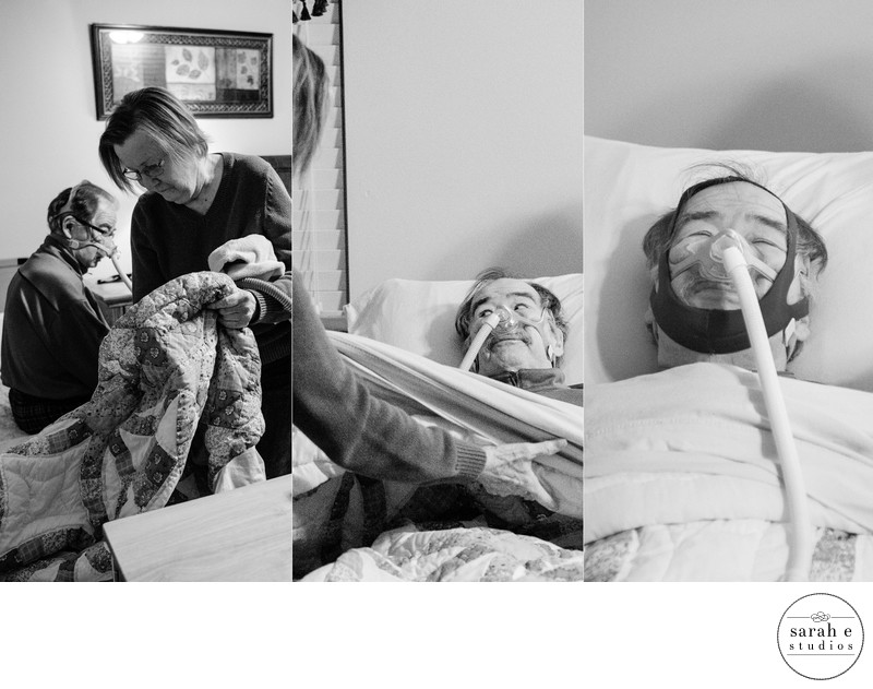 Patient going to bed with ALS as documented by Sarah Howell