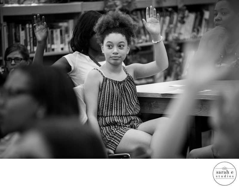 Tween girl at McKinley Classical Leadership Academy in St. Louis participating in a Girls in the Know classrom session
