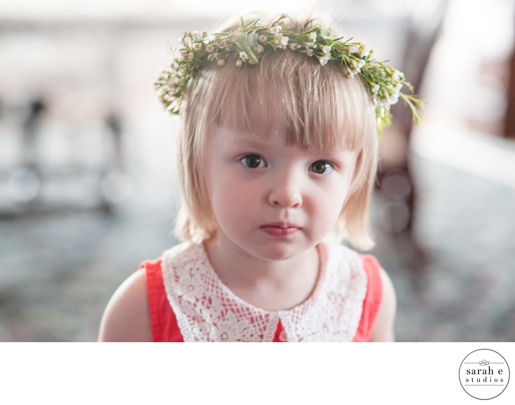 Flower Girl Portrait at Wedding in St. Louis