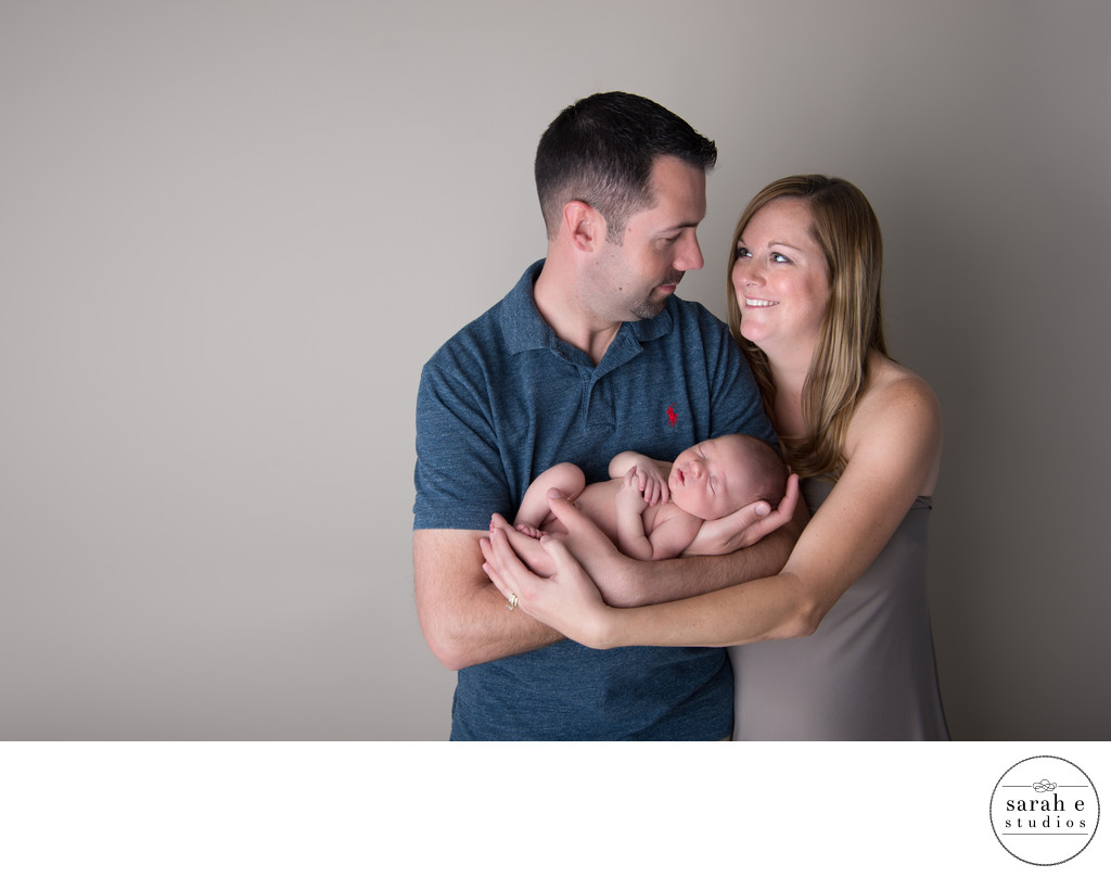 St. Louis Newborn Family Portrait