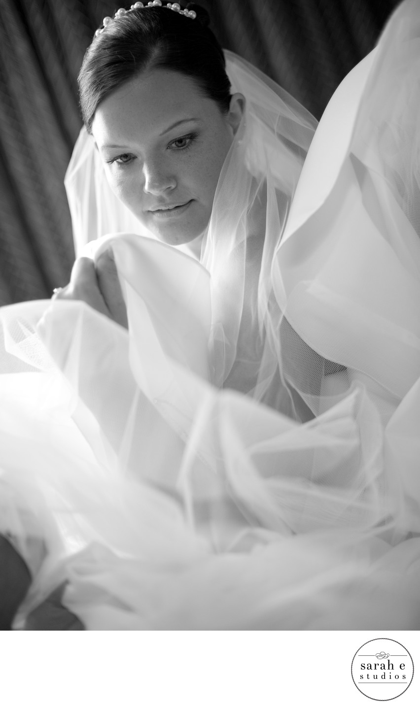 Bride Getting Ready in Beautiful Light