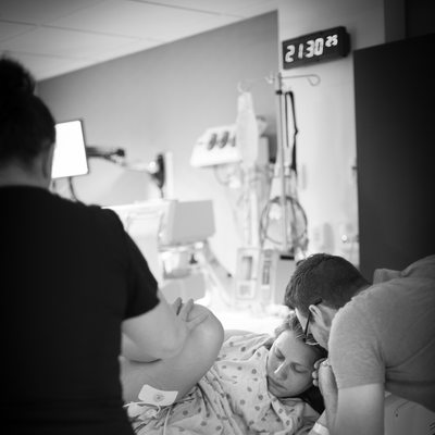 Mom in Labor at Mercy Hospital St. Louis