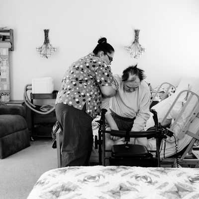 Patient with ALS Experiencing a Day in the Life Photo Sesssion
