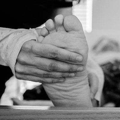 Foot Massage for a Patient with ALS