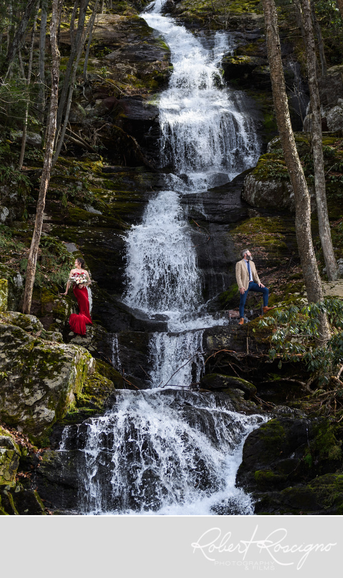 NJ Waterfall Bridal session