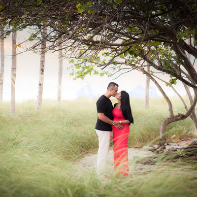 Ritz Carlton Bal Harbour maternity photography beach