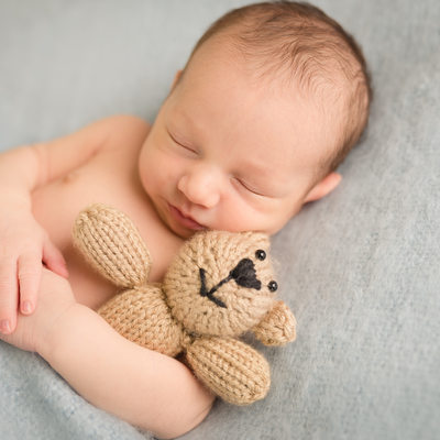 newborn teddy bear South Florida newborn photographer