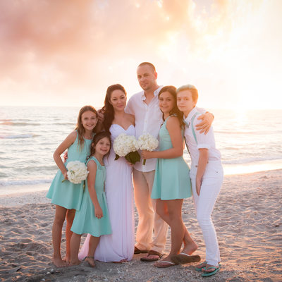 Sanibel Florida best wedding family photographer sunset