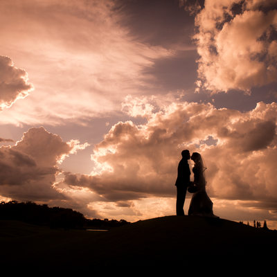 Grande Oaks Country Club wedding Davie Florida sunset