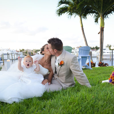 Lighthouse Point Yacht Club wedding baby photographer