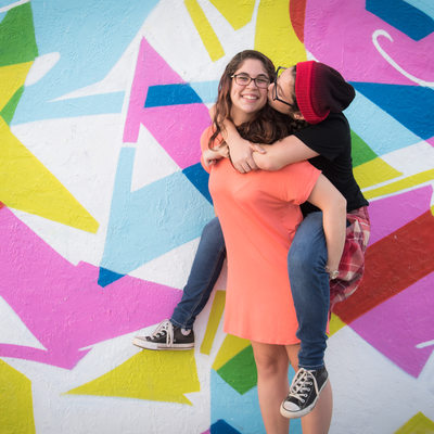Wynwood Fl sisters family photo bat mitzvah photography