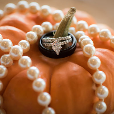 Halloween Fall theme Wedding Ring Florida Photographer