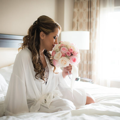 wedding bride getting ready South Florida photographer