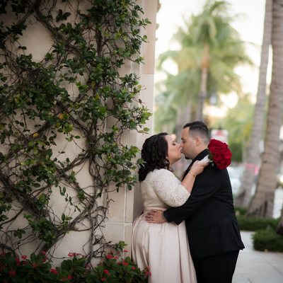 Worth Avenue Palm Beach wedding elopement