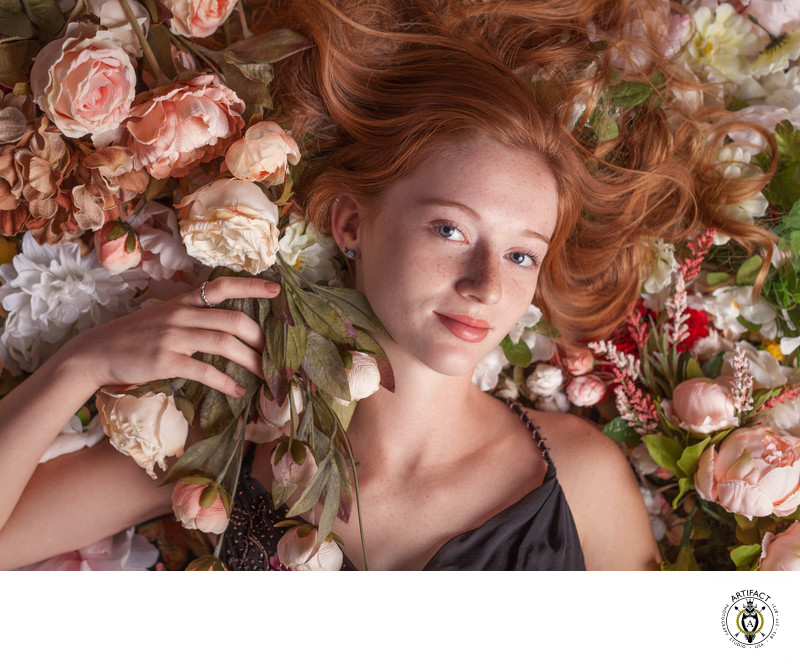 Redhead with Flowers | Abigail