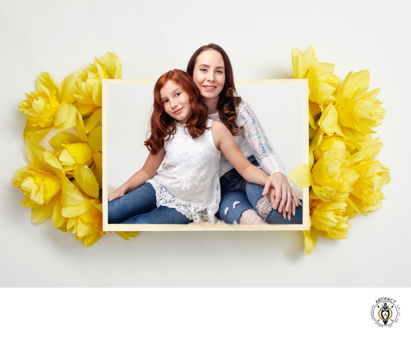 Mother & Daughter Portrait with Narcissus