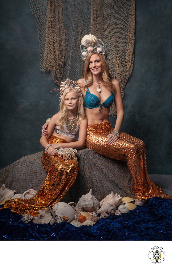 Mother and Daughter Mermaid Portrait