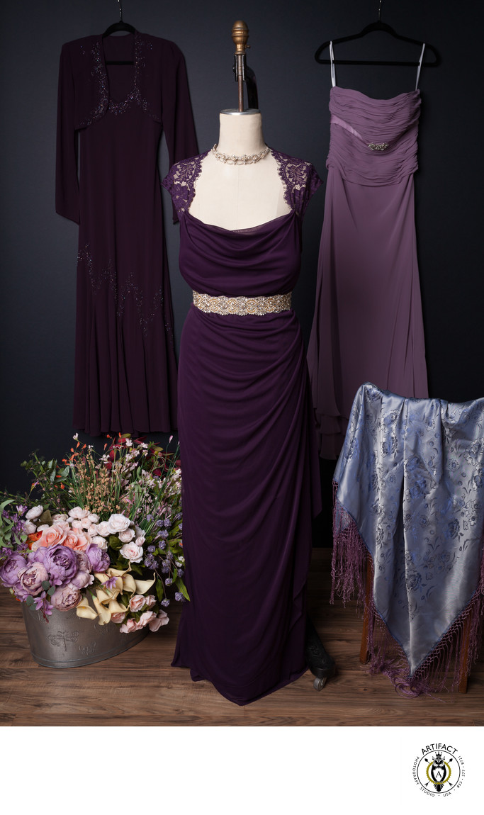 Purple Gowns in the Studio's Wardrobe Collection