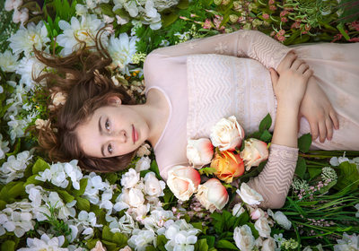 Field of Flowers Portrait | Kayla