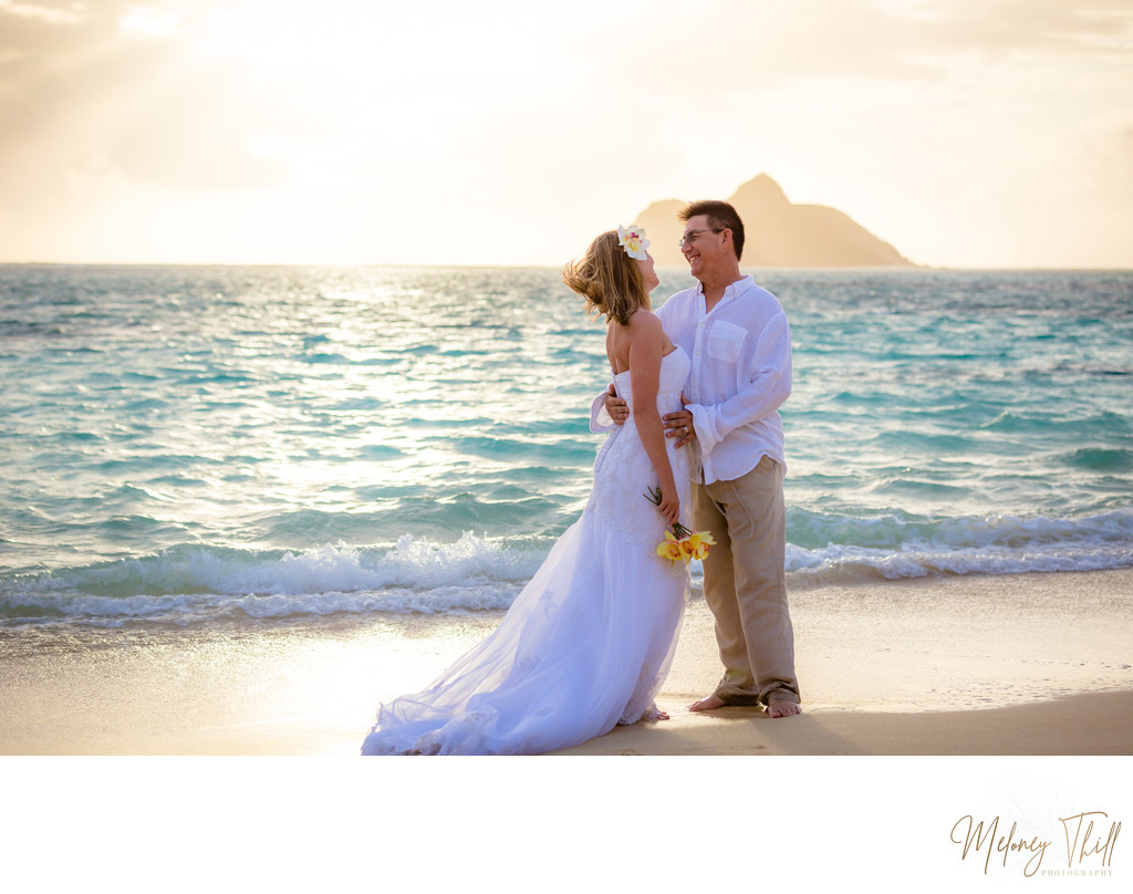 Wedding at Lanikai Beach - sunrise photos