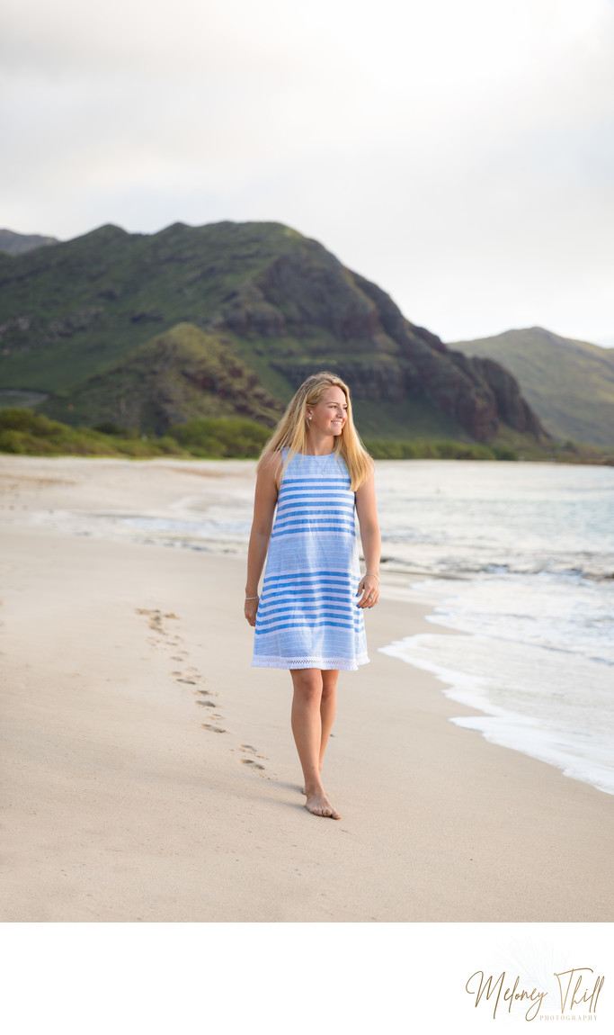 Senior Portrait at Makua Beach - Oahu