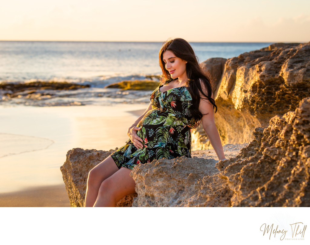 Maternity Beach Portrait  - Meloney Thill Photographer