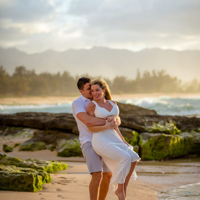 Happiness: Dancing in the sunset - will you marry me?