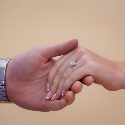 Take my hand engagement photo