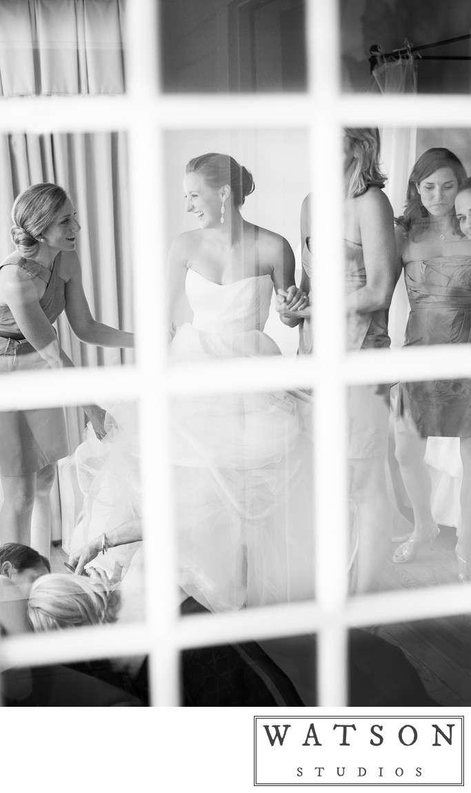 Bride Getting Ready at the Inn at Serenbe