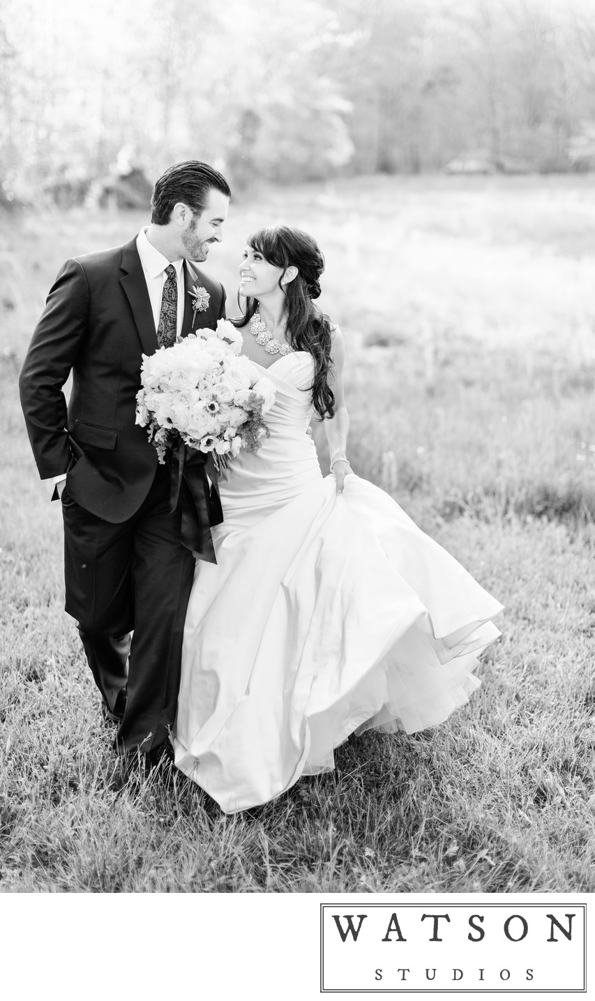 Bride and Groom Portrait at Blackberry Farm