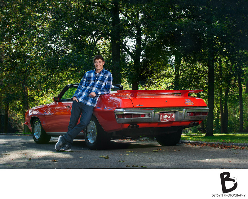 Dexter Senior Portrait With Car
