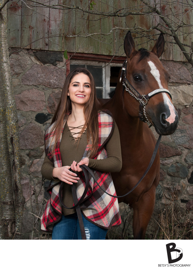 Senior Pictures With Horses (Saline, MI)