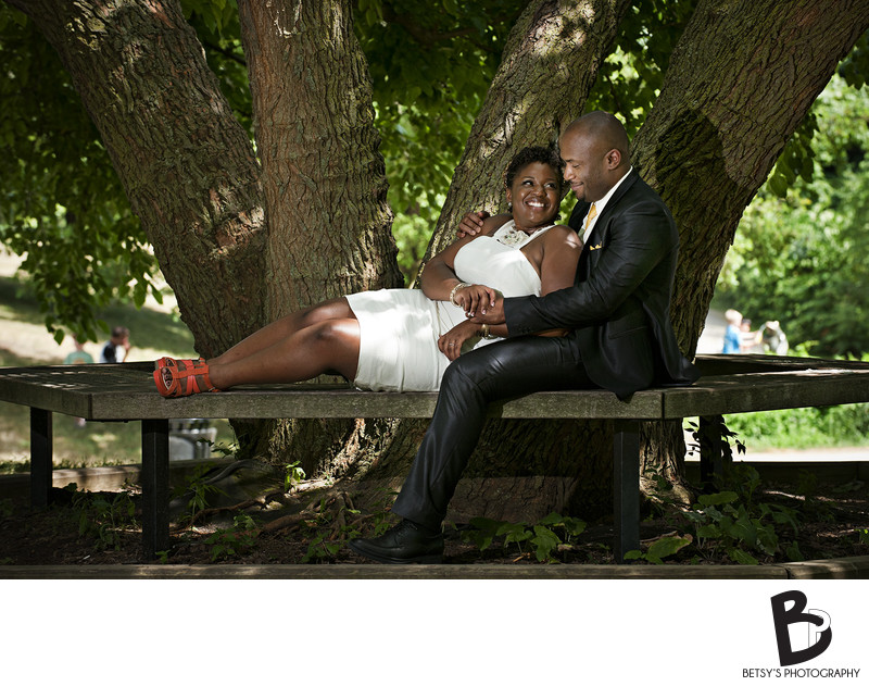 Newlywed Couple Portrait at Gallup Park (Ann Arbor)