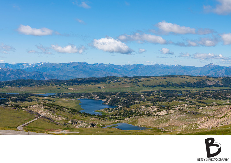 View from the Beartooth Pass in Montana + Wyoming