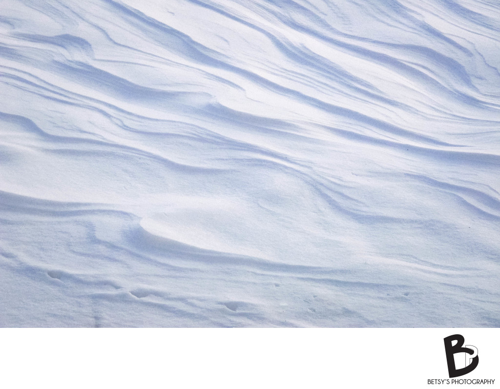 Wind Ripples on Snow (Dexter, MI)