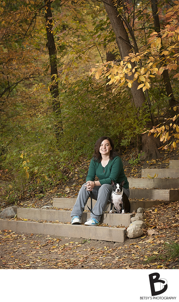 Senior Portraits With Fall Colors (Nichols Arboretum)