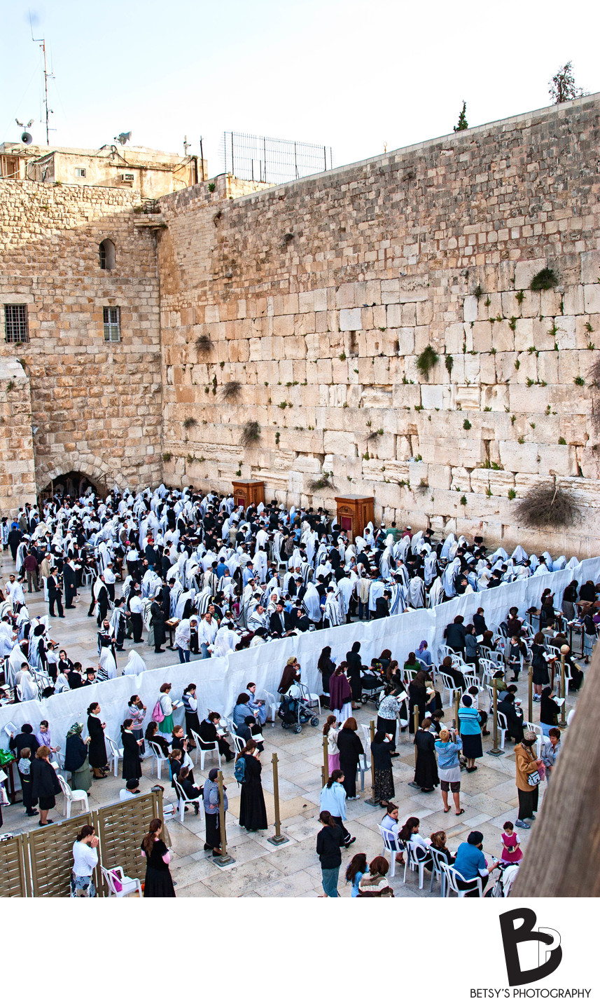 The Western Wall during Holy Week